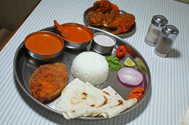 Non veg food in harnai beach hotels
